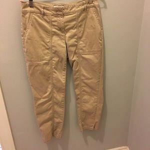 WHBM Khaki Cropped Pants